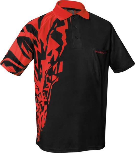 Koszulka polo Harrows Rapide czarno-czerwona