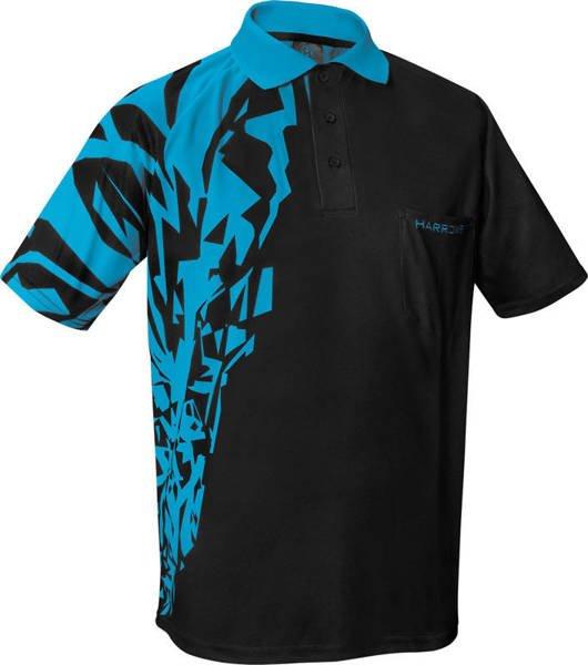 Koszulka polo Harrows Rapide czarno-niebieska