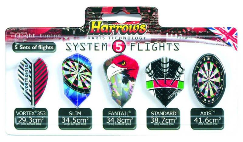 Zestaw piórek Harrows System 5 Flights 5x3